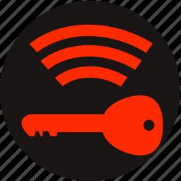 battery low, car key, key, key battery low, key fob battery low, key signal, warning light icon