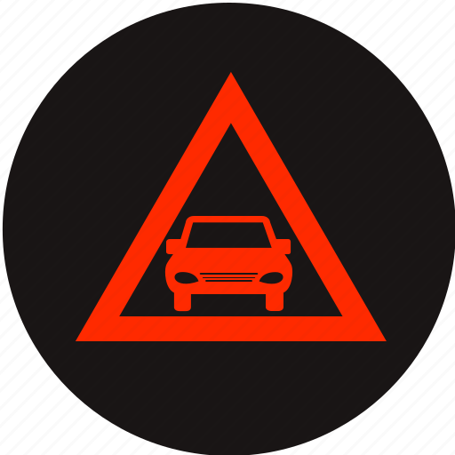 auto, car, dashboard, distance, distance warning, waning light icon