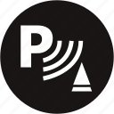 park, park warning, parking, parking assist, parking brake, parking gear, warning light icon