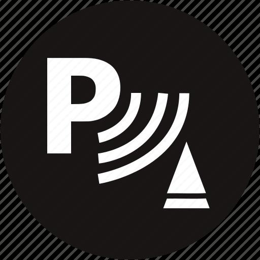 park, park warning, parking, parking assist, parking brake, parking gear, warning light icon