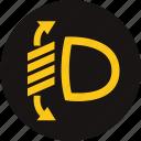 adjust light, arrow, headlight, headlight range control, light, sport light, warning light icon