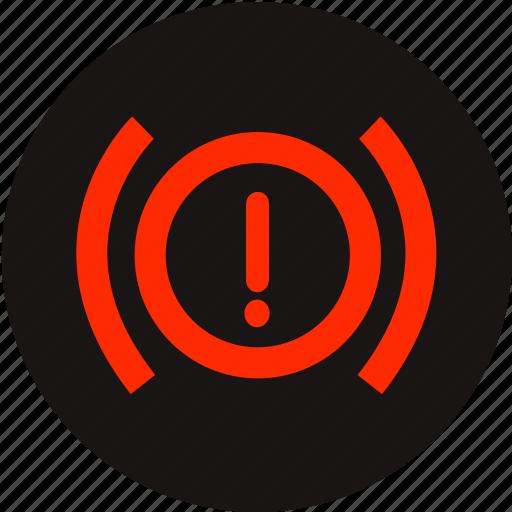 brake system, car, handbrake, handbrake warning, light handbrake, warning, warning light icon