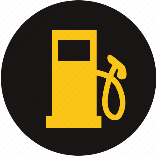 fuel, low fuel level, low gas, petrol station, run out of petrol, station, warning light icon