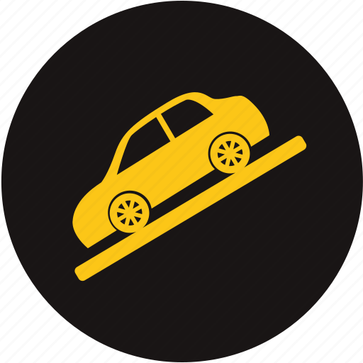 down, go down, hill, hill descent control, low, slow, use low gear icon