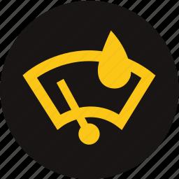 light, rain, rain sensor, rain windscreen, sensor, warning, windscreen icon