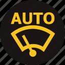 auto, auto windscreen wiping, dashboard, light, warning, windscreen wiping, wiping