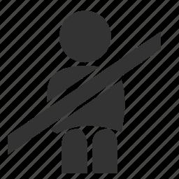 belt, light, seat belt, seat belt buckles, seat belt not on, seat belt warning, warning icon
