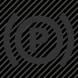 light, parking, parking brake light, parking brake system, parking warning, warning icon