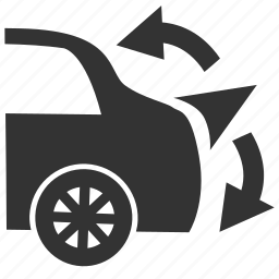 rear spoiler, rear spoiler warning, warning light icon