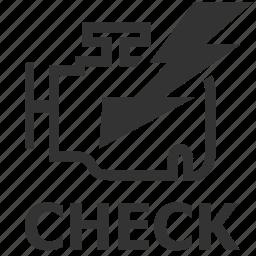 check, emission control lamp, emissions warning, engine, engine warning, enigine check, warning light icon