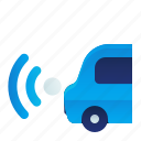 back, car, parking, sensor, transportation, vehicle icon