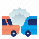 accident, car, crash, transportation, vehicle icon