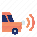 car, front, parking, sensor, transportation, vehicle icon