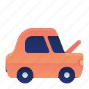 car, front, hood, open, transportation, vehicle icon