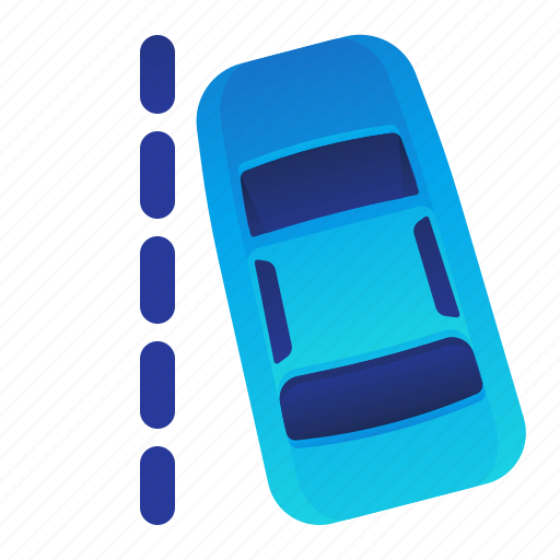 car, line, outside, transportation, vehicle icon