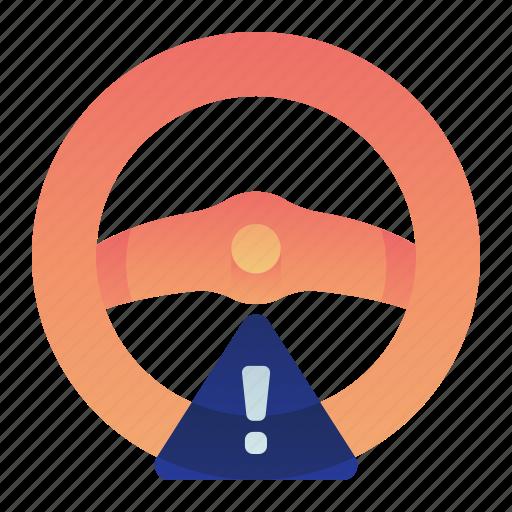 Car, steering, transportation, vehicle, warning, wheel icon - Download on Iconfinder