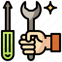 construction, edit, equipment, maintenance, support, technical, tools icon