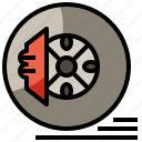 brake, car, pneumatic, race, racing, tire, transportation icon