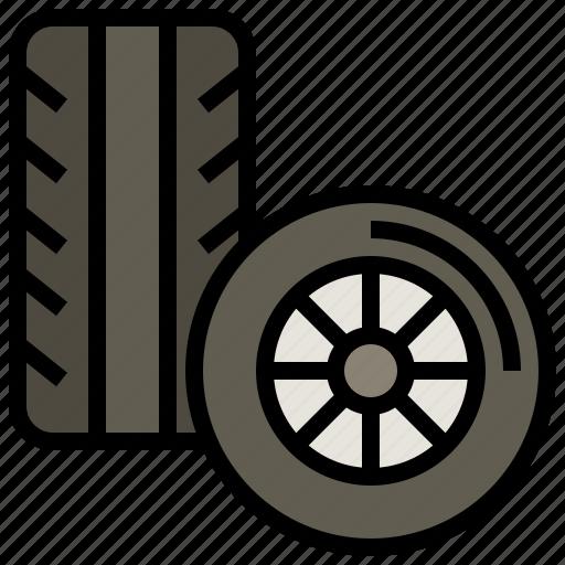 automobile, car, pneumatic, racing, transportation, vehicle, wheel icon