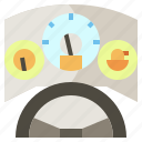 car, dashboard, speedometer, tools, transportation, utensils, velocity