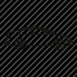 automobile, automotive, car, line, outline, transport, vehicle icon