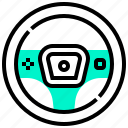 car, controller, part, steering, wheel icon