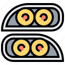 car, front, headlamp, headlights, parts icon