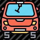 car, rear, transportation, vehicle, window icon