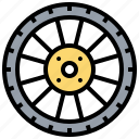 car, metal, steel, tyre, wheel icon