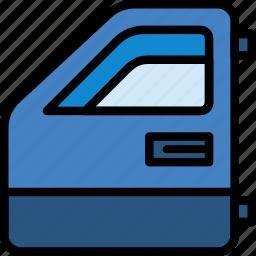 car, door, front, part, vehicle icon