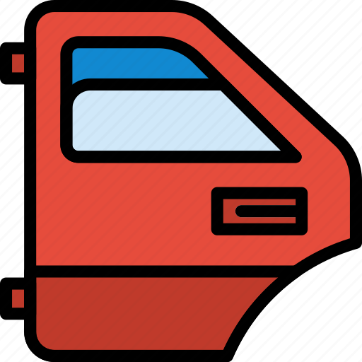 car, door, part, rear, vehicle icon