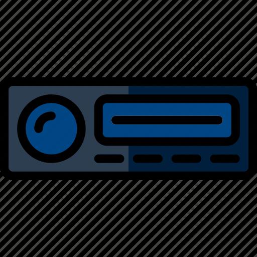car, fm, part, radio, vehicle icon