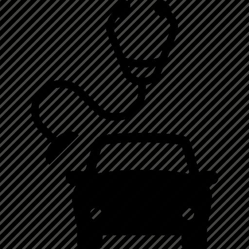 auto, car, diagnosis, listen, mechanic, stethoscope icon