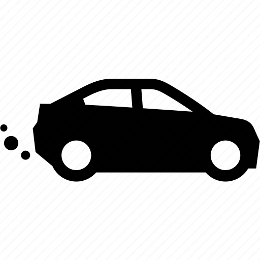 auto, automobile, car, exhaust, pollution icon