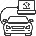 car, computer, diagnostics, vehicle icon