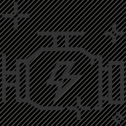 car, engine, service, turnup icon