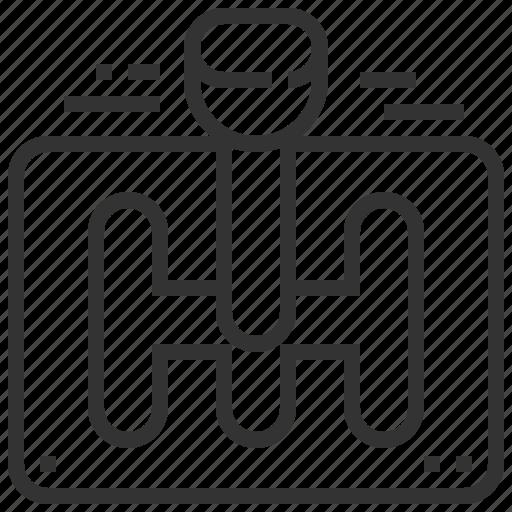 car, control, gear, service icon