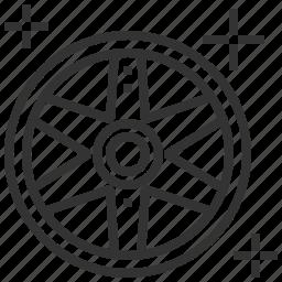 mag, service, transport, wheel icon