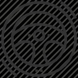 automobile, car, steering, wheel icon