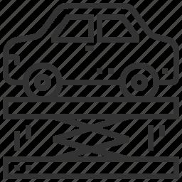 automobile, suspension, transport icon