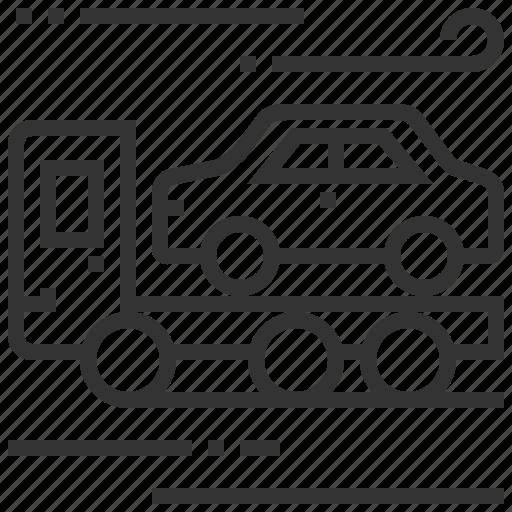 car, service, trailer, transportation icon