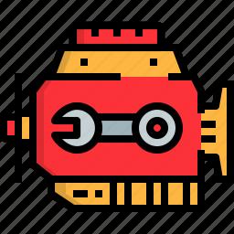 automobile, car, engine, motor, repairing icon