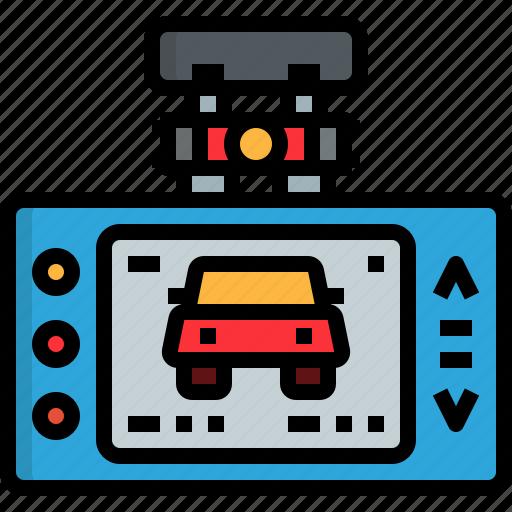 automobile, automotive, camera, car, motor, recorder, safety icon