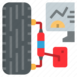 automobile, balancing, center, check, garage, service, tire icon
