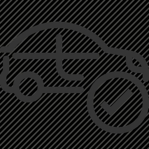 automobile, car, check mark, diagnostic, garage, ok, repair icon