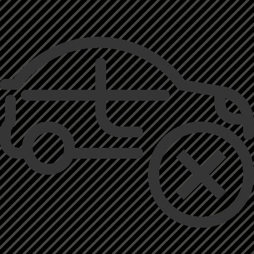 automobile, car, cross, diagnostic, failure, garage, repair icon