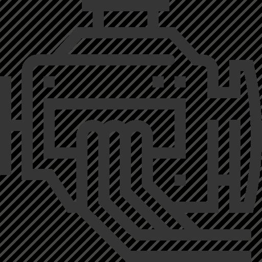 automobile, car, engine, failure, garage, motor, repairing icon