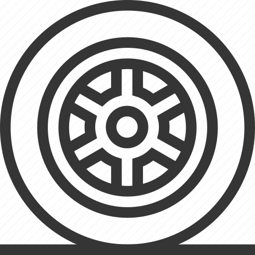 Automobile, blown, car, repair, tire, wheel icon - Download on Iconfinder