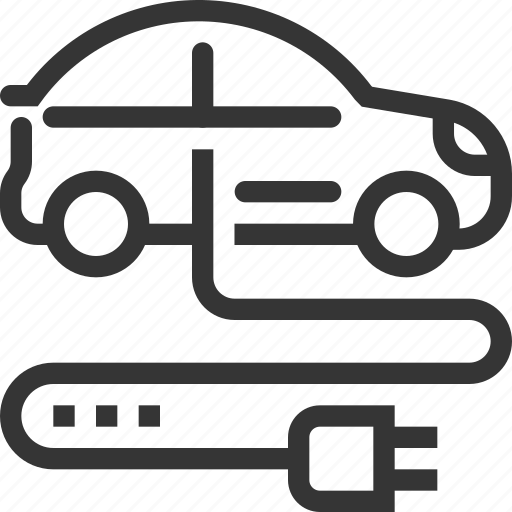 automobile, battery, ecologic, electric car, hybrid, plug, transport icon