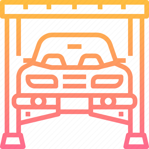 Automobile, car, garage, lifter, motor, repairing icon - Download on Iconfinder